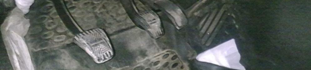 Следы подтёков тосола в салон автомобиля на ВАЗ-2114 под ковриком