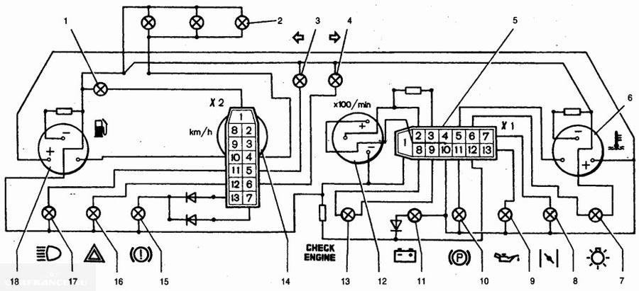 Ваз 2112 схема панели приборов фото 569