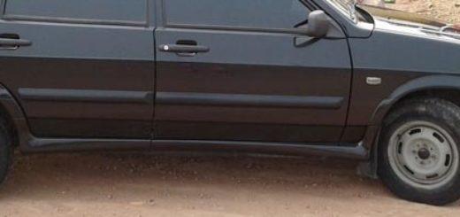 Вид на передние и задние стойки на ВАЗ-2114