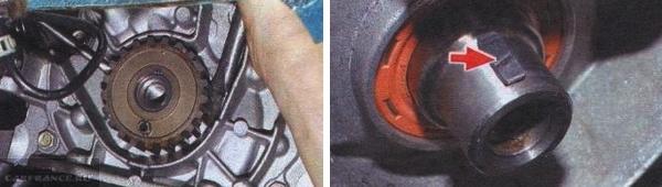 Демонтируем шкив и шпонку коленвала ВАЗ-2114