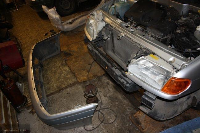 Демонтаж переднего бампера ВАЗ-2114