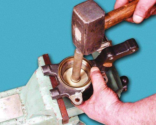 Полный демонтаж ступичного подшипника ВАЗ-2114