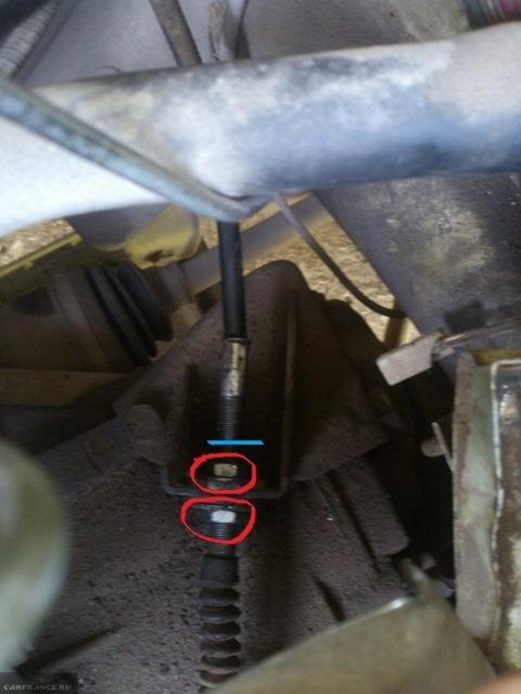 Регулировка натяжения тросика сцепления на ВАЗ-2114