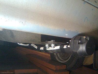 Собранная механическая часть фаркопа ВАЗ-2114