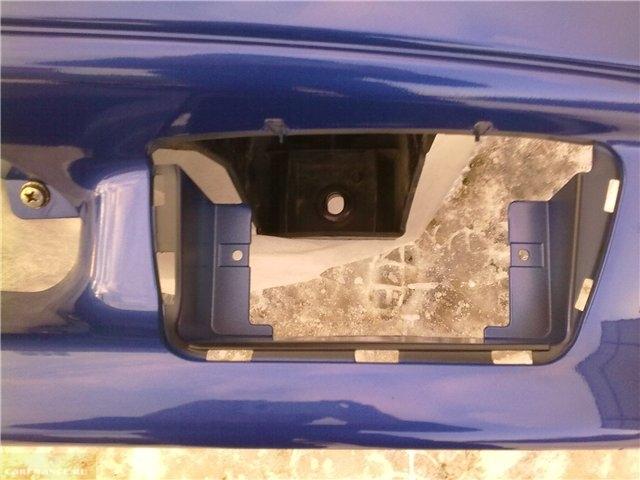 Установка отверстий в бампере под ПТФ ВАЗ-2114