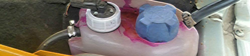 Выдавливает тосол из расширительного бачка на ВАЗ-2114