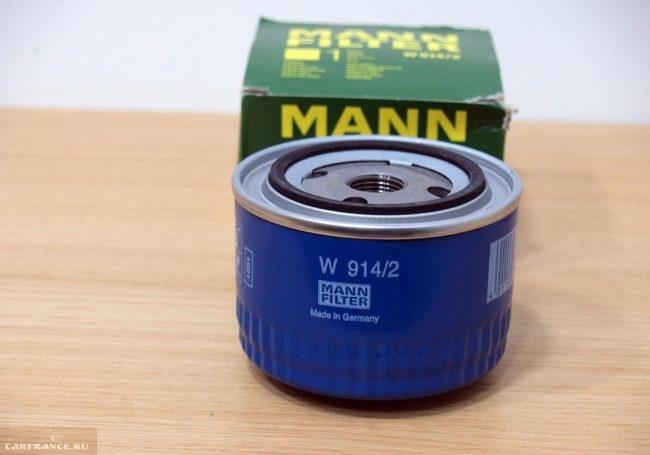 Масляный фильтр Mann на ВАЗ-2114