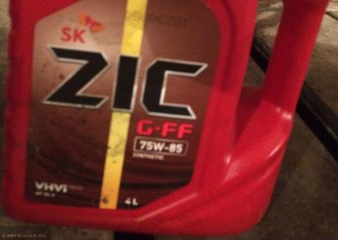 Трансмиссионное масло ZIC для КПП ВАЗ-2114