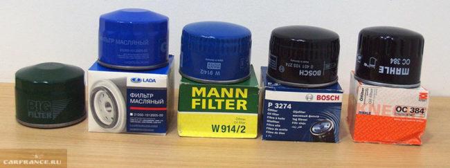 Масляные фильтра на ВАЗ-2114