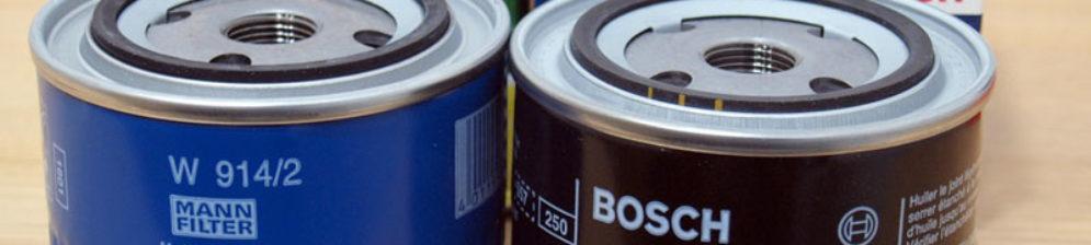 Масляный фильтр Bosch и MANN вблизи на ВАЗ-2114