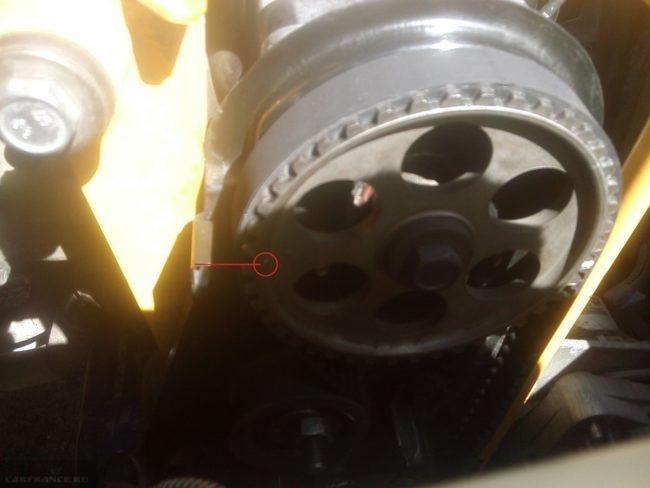 Метка распредвала двигателя на ВАЗ-2114
