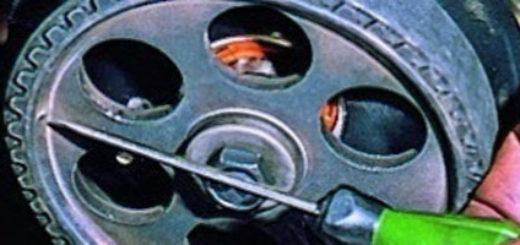 Метки ГРМ на шкиве двигателя ВАЗ-2114
