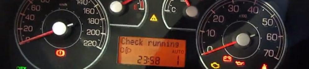 Панель приборов Фиат Гранд Пунто когда автомобиль не заводится