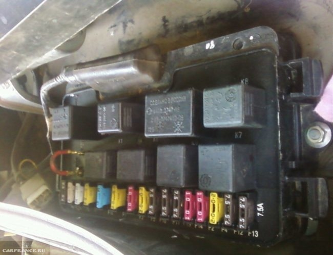 Замена предохранителей на ВАЗ-2114