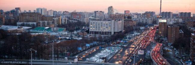 Большая пробка в Москве