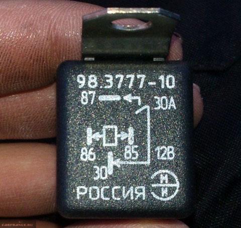 Реле зажигания на ВАЗ-2114 вблизи