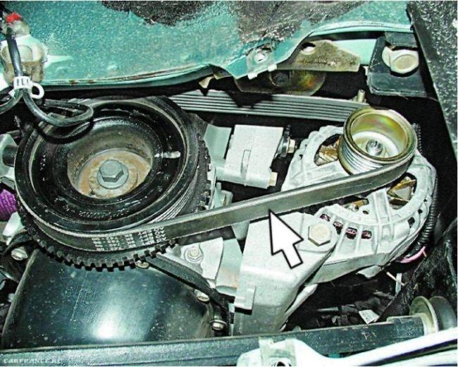Проверка натяжения ремня генератора на ВАЗ-2114