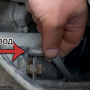 Снятие провода питания со стартера ВАЗ-2114