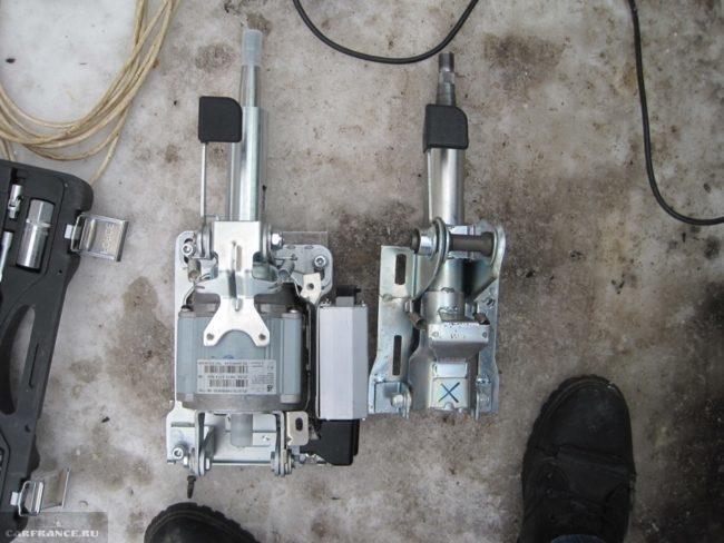Рулевые колонки с усилителем руля и без на ВАЗ-2114
