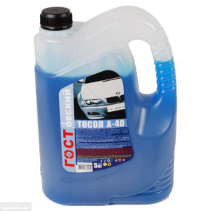 Тосол для ВАЗ-2114 синего цвета
