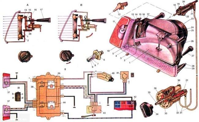Схема блок-фары ВАЗ-2114
