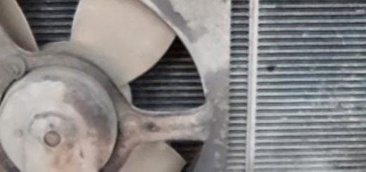 Демонтированный вентилятор охлаждения двигателя ВАЗ-2114
