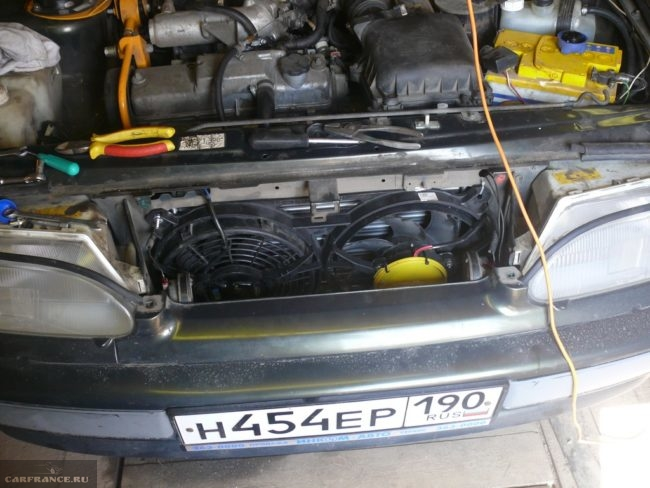 Вентилятор охлаждения на автомобиле ВАЗ-2114