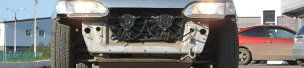 Двойной вентилятор радиатора охлаждения на ВАЗ-2114