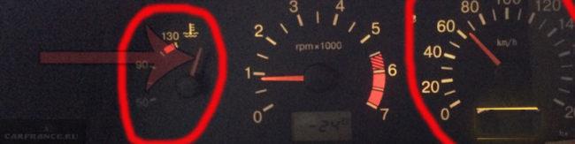 Стрелка указателя температуры зашкалила на ВАЗ-2114