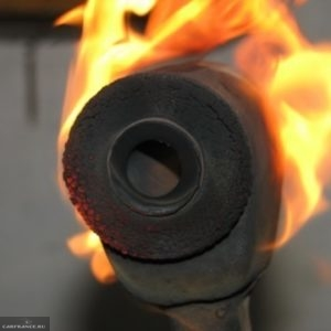Процесс выжигания ромашки на ВАЗ-2114