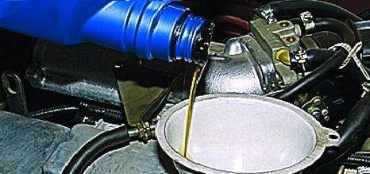 Заливка масла в двигатель ВАЗ-2114