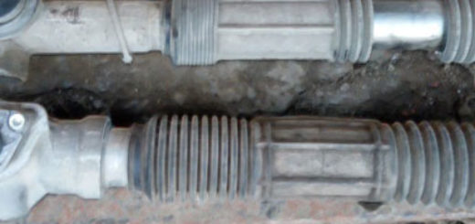 Рулевая рейка на ВАЗ-2114 демонтированная с автомобиля