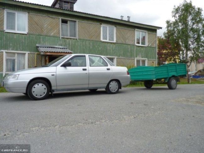 ВАЗ-2110 с прицепом