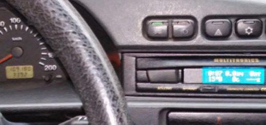 Бортовой компьютер в штатном месте на ВАЗ-2114