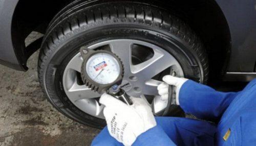 Проверка давления шин ВАЗ-2110