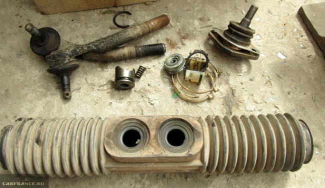 Диагностика рулевой рейки и рулевого механизма на ВАЗ-2114