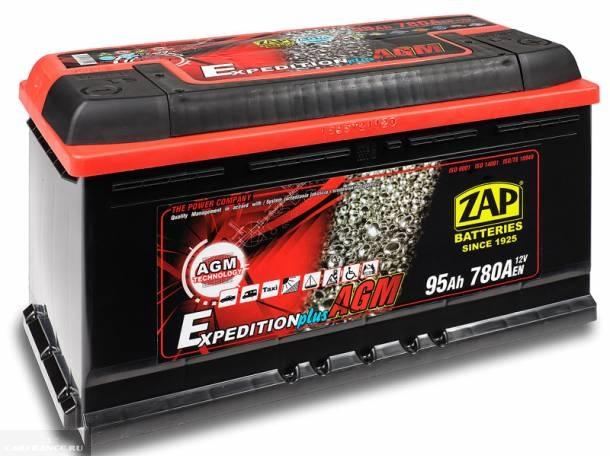 Гелиевый аккумулятор ZAP Expedition AGM - 95 A/ч