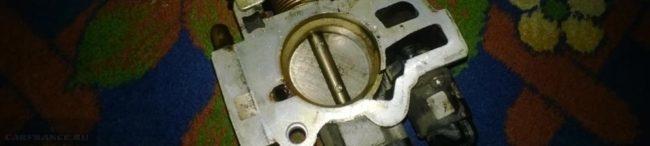 Грязная дроссельная заслонка ВАЗ-2114