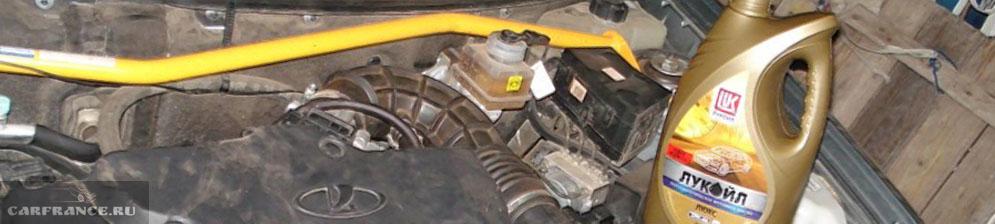 Моторное масло Лукойл в двигатель Лада Приора