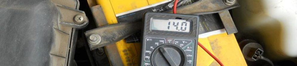 Замер напряжения в АКБ на ВАЗ-2114