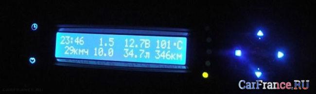 Не стандартный бортовой компьютер на ВАЗ-2114