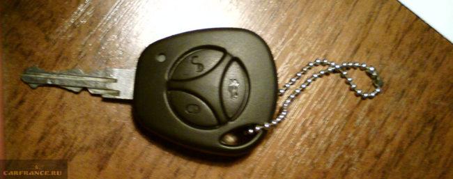 Обычный ключ с меткой иммобилайзера на Лада Приора