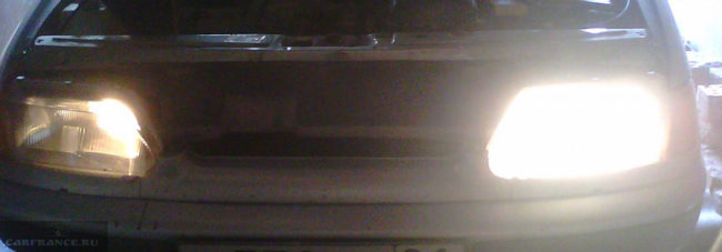 Перегорела лампа правой фары ближнего света ВАЗ-2114