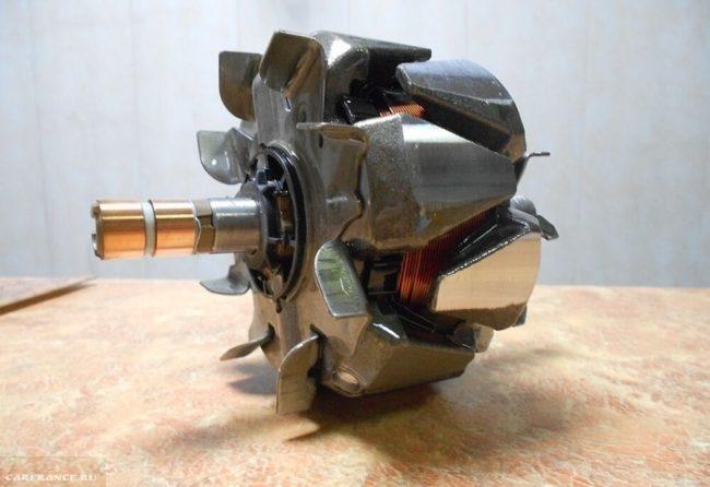 Ротор и статор генератора на автомобиле