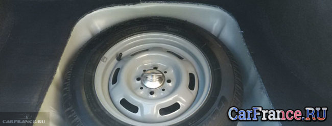 Стандартная сверловка запасного колеса на ВАЗ-2114