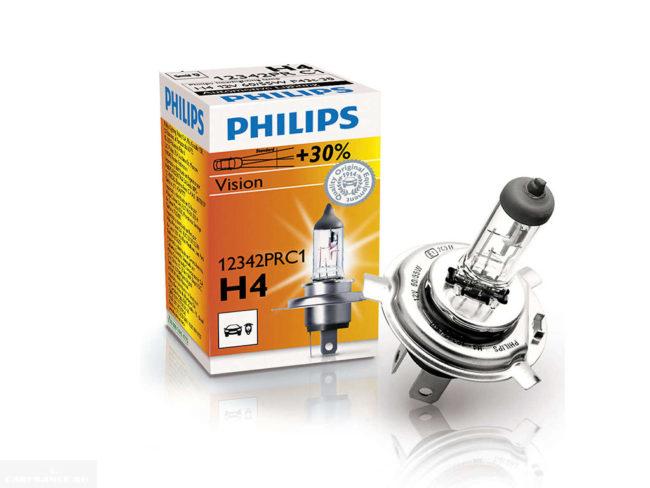 Лампа галогенная Philips H4 Vision