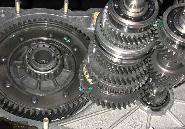 Шестерни КПП на ВАЗ-2114 вблизи