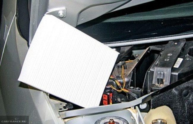 Демонтированный салонный фильтр Рено Симбол