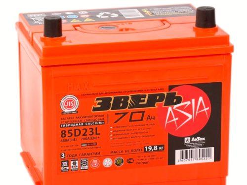Автомобильный аккумулятор Зверь 85D23L (70R 700A) для ВАЗ-2114