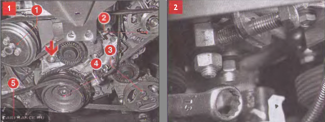 Zatyazh Rem Shniva2 - Схема установки ремня генератора на шевроле нива